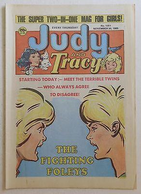 JUDY & TRACY Comic #1351 - 30th November 1985