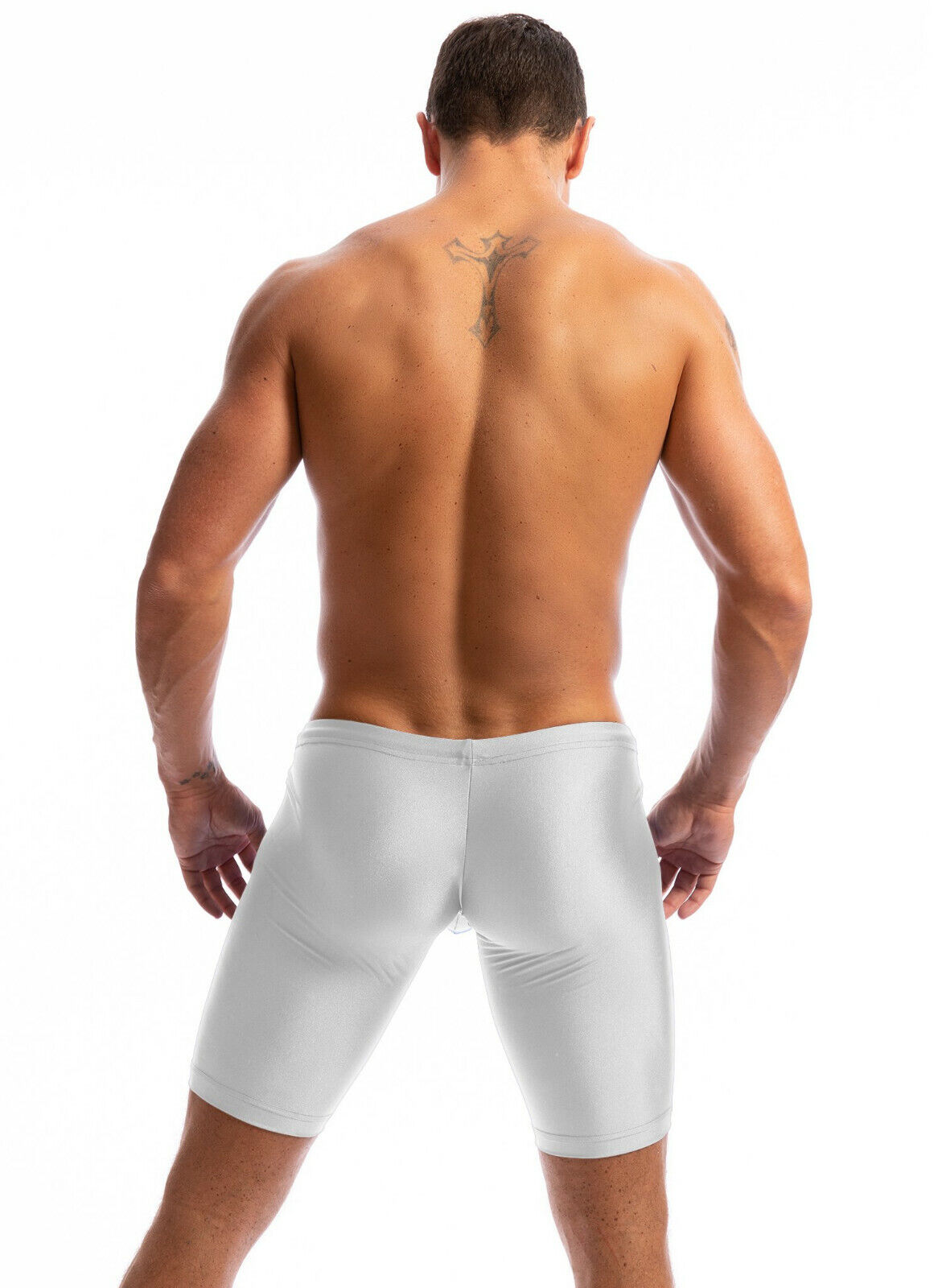 N2N Bodywear Men white Extreme Pouch biker shorts Activewear