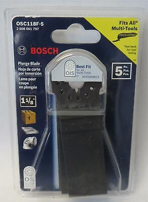 Bosch Osc118f-5 1-18 Oscillating Plunge Blade For Wood Metal 5 Pack Swiss