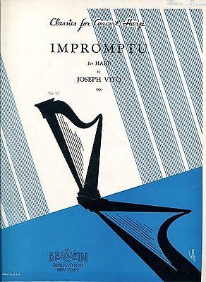 HARP MUSIC - IMPROMPTU - JOSEPH VITO - CLASSICS FOR CONCERT HARP - 1942