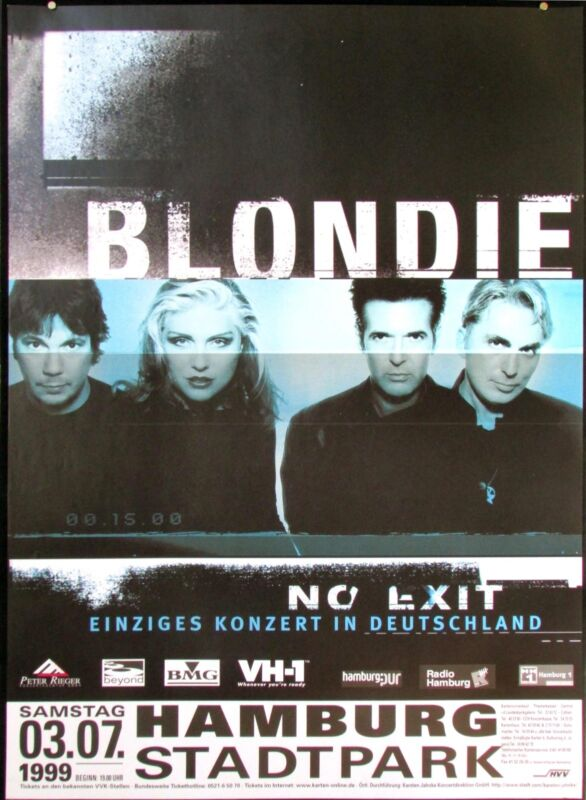Blondie Hamburg Stadtpark 1999 Genuine German Original Bus Side Tour Poster