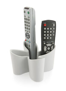 Cool-Grey-Cozy-Remote-Control-Tidy-New-J-Me-Holder