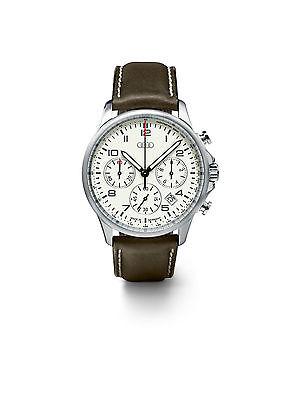 Audi Chronograph Luminous, Herrenuhr, Armbanduhr, Uhr braun / weiß 3101500300
