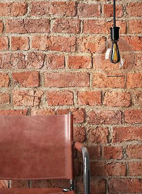 NEWROOM Steintapete Papiertapete Rot Mauer Stein Modern Braun Loft 3D
