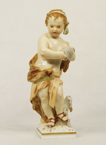 ANTIQUE KPM BERLIN GERMANY PORCELAIN FIGURINE OF BOY ICE SKATER