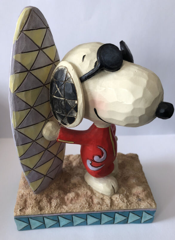 """Jim Shore Peanuts Snoopy """"Surf's Up"""" 4055655"""