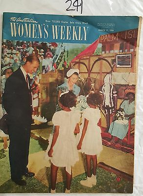 AUSTRALIAN WOMENS WEEKLY 1954 MAR 31,ROYAL VISIT ABORGINAL COVER,KAYSER,FASHION