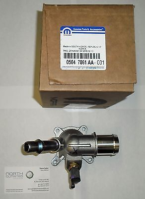 NEW OEM MOPAR 2012-16 2.0L 2.4L DART RENEGADE CHEROKEE 200 THERMOSTAT & HOUSING