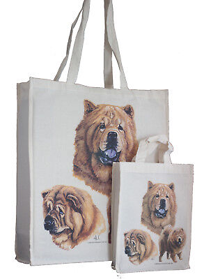 Chow Chow Dog Adult & Child Shopping or Dog Treats Packed Lunch Tote Bag