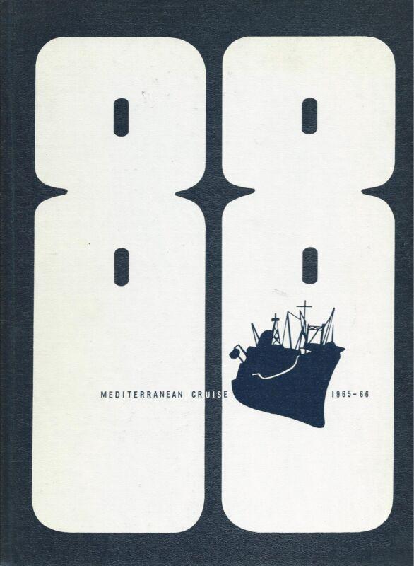 USS UVALDE AKA-88 MEDITERRANEAN DEPLOYMENT CRUISE BOOK YEAR LOG 1965-66 - NAVY