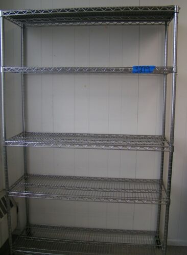Metal Shelving with 5 Adjustable Shelves, On Wheels