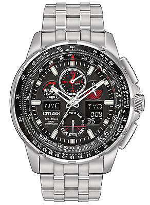 BRAND NEW CITIZEN ECO-DRIVE JY8050-51E SKYHAWK AT BLACK DIAL RED ACCENT
