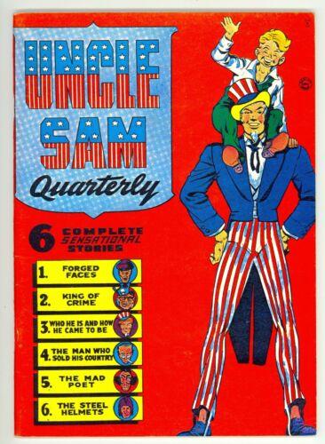 1941 Uncle Sam Quarterly #1 FN/VF Vintage Golden Age Comic Book Reprint