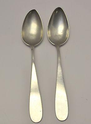 """Antique 1800's Pair Palma de Mallorca Spain 8"""" Spoons European 900 Silver"""