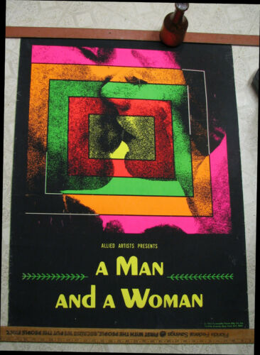 """Movie Poster - """"A Man and A Woman"""" - Academy award winner"""