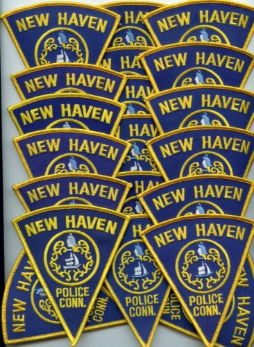 NEW HAVEN CONNECTICUT Patch Lot Trade Stock 20 Police Patches POLICE PATCH