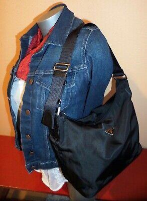 PRADA Small Adjustable BLACK TESSUTO NYLON and Leather Shoulder EUC!! Authentic!