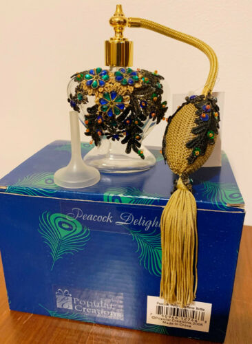 Popular Creations Peacock Delight Perfume Bottle #17PE101
