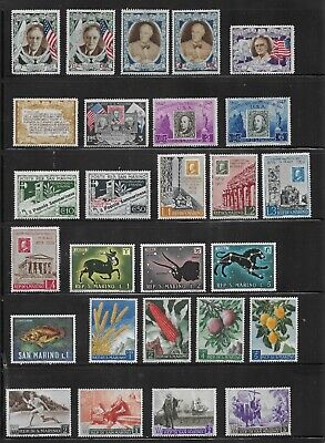 HICK GIRL- MINT SAN MARINO STAMPS    VARIOUS ISSUES       T173