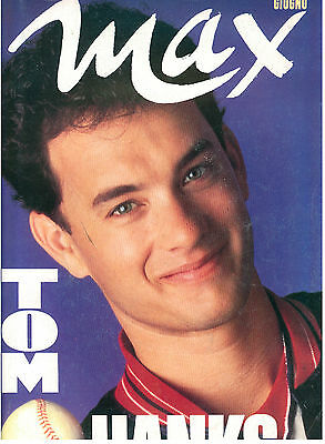 MAX GIUGNO 1989 ANNO V NUM. 6 TOM HANKS ITALIAN FASHION MAGAZINE MODA CINEMA