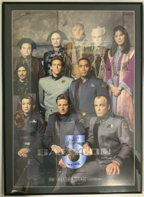 Babylon 5 Signed Framed Poster J Michael Straczynski 13 Signatures