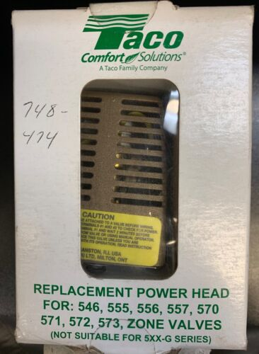 Taco 555-050RP Replacement Power Head Zone Valve-NEW IN BOX