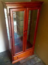 Timber Glass Display China Cabinet Kallangur Pine Rivers Area Preview