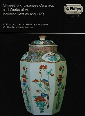 CHINESE & JAPANESE CERAMICS, WORKS OF ART,  TEXTILES, FANS AUCTION CATALOGUE