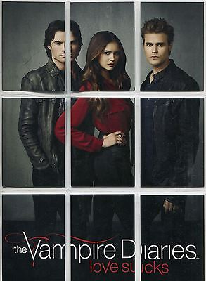 Vampire Diaries Season 4 Complete Trio Puzzle Chase Card Set H1-9