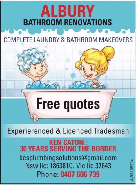 Bathroom Renovations Albury Wodonga albury bathroom renovations | plumbing | gumtree australia albury