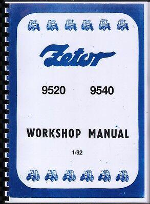 1992 ZETOR 9520 & 9540 Tractor Workshop Manual Book na sprzedaż  Wysyłka do Poland