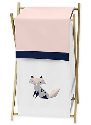 Sweet Jojo Kids Baby Clothes Laundry Hamper For Pink Navy Fox Girl Bedding Sets