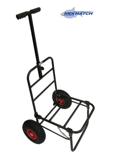 MDI Match Fishing or  Festival Compact Folding Trolley with Pneumatic Wheels