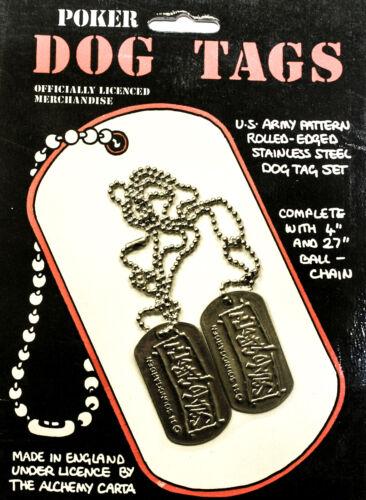 Poker Rox SOUNDGARDEN Dog Tag Necklace DT1