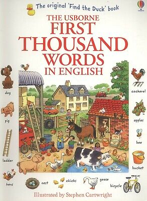The Usborne First Thousand Words in English By Heather Amery Paperback NEW