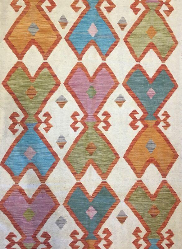 Crisp Colorful - New Kilim Rug - Flatweave Tribal Carpet - 7.1 X 9.10 Ft.