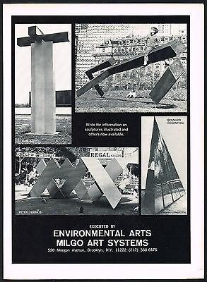 1970's Vintage Environmental Arts Milgo Art Systems NY sculpture photo print AD
