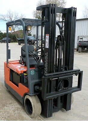 Toyota 5fbe20 1999 4000 Lbs Capacity Great 3 Wheel Electric Forklift