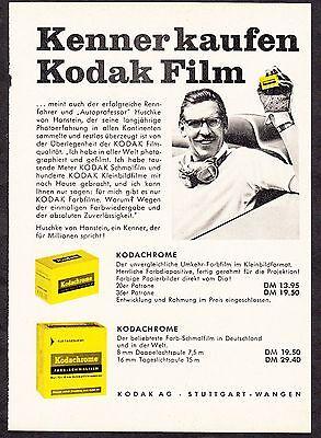 3w1672/ Alte Reklame von 1960 - Kenner kaufen KODAK-Film - Kodak Stuttgart