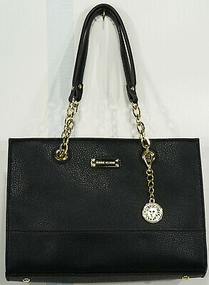 Gently Loved Anne Klein Black Structured Shoulder Bag