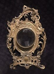 19th Century Antique Ornate French Gilt Bronze Cartel Wall Clock Face