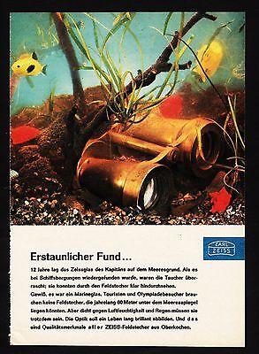 3w1680/ Alte Reklame von 1960 - CARL ZEISS - Das Zeichen weltberühmter Optik.
