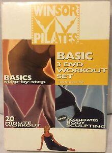 Winsor Pilates Basic 3 DVD workout Set fitness exercise Mari Windsor Accelerated