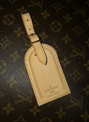 100% Authentic Louis Vuitton Large Luggage Name ID Tag - Made in France -1 PIECE ()