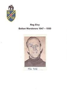 REG-ELVY-BOLTON-WANDERERS-1947-1950-RARE-ORIGINAL-HAND-SIGNED-PICTURE-CUTTING