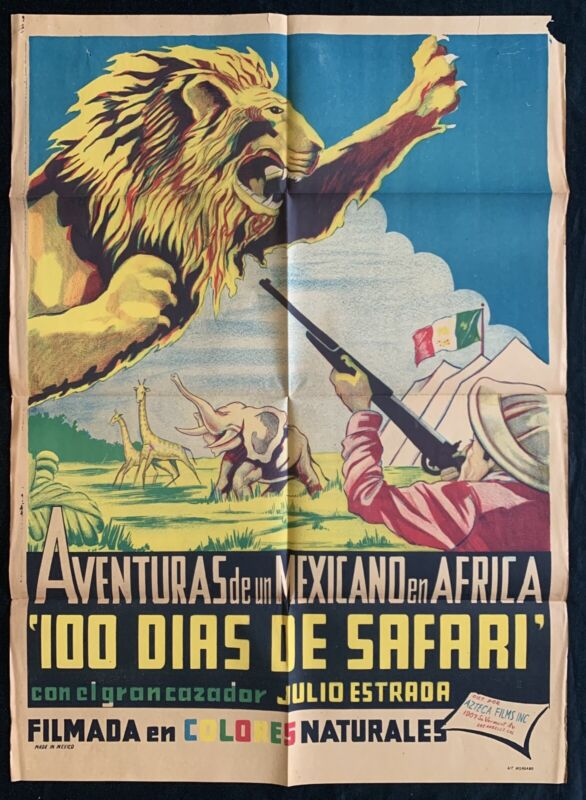 AVENTURAS DE UN MEXICANO EN AFRICA 1948 Julio Estrada MEXICAN MOVIE POSTER