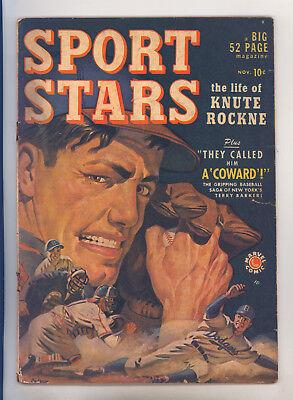 Sport Stars #1 (Marvel 1949) VG- Knute Rockne, Terry Parker, Frank Bastoni