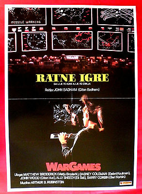 WARGAMES 1983 SCI-FI MATTHEW BRODERICK ALY SHEEDY JOHN BADHAM EXYU MOVIE POSTER
