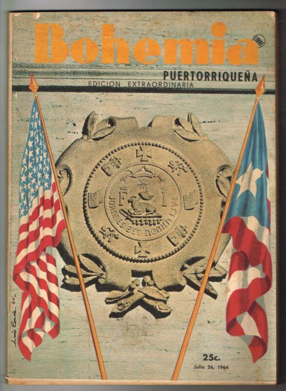 Bohemia Puertorriquena Puerto Rico Julio 26, 1964 Edicion Extraordinaria ELA