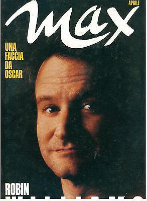 MAX APRILE 1990 ANNO VI NUM. 4 ROBIN WILLIAMS ITALIAN FASHION MAGAZINE MODA